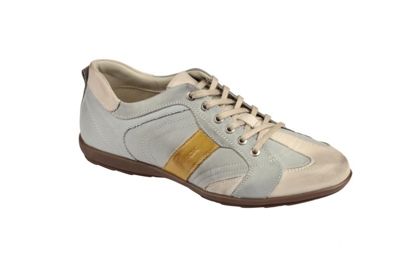 Geox Icona Schuhe Gr. 41 in grau hellblau Sneakers :: Grau - 41 - Männlich - Erwachsene