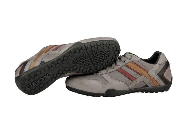 Geox Respira Snake P Schuhe grau Herren Sneaker NEU