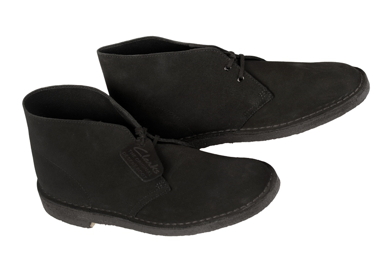 Details zu Clarks Desert Boot Schuhe schwarz Velourleder 00111763 NEU