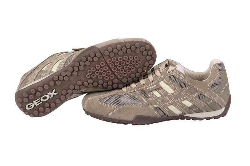 Geox Respira Schuhe Snake M beige weiß grau Sneaker NEU