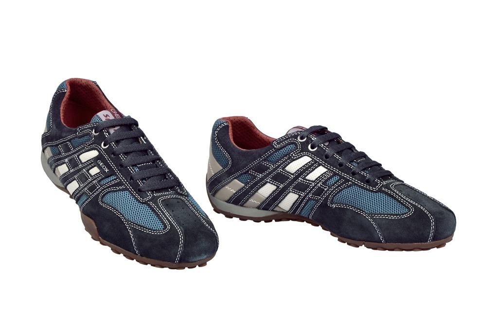 Geox Respira Schuhe Snake M blau weiß Sneaker U1107M 01422