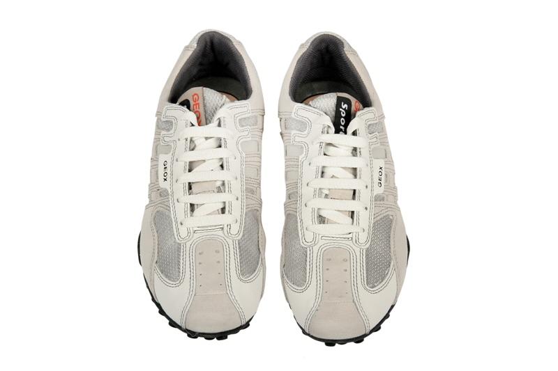 Geox Respira Schuhe Snake weiß grau Herren Sneaker NEU  eBay