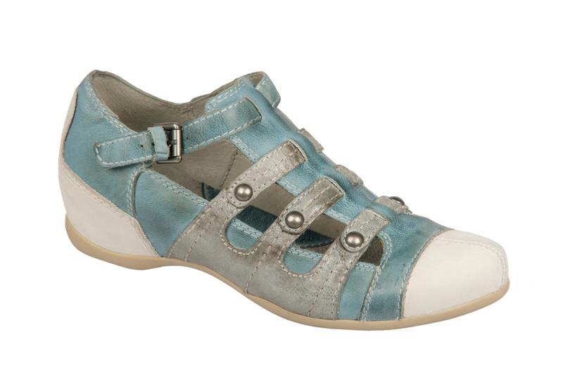pikolinos riva schuhe blau grau wei damen slipper ebay. Black Bedroom Furniture Sets. Home Design Ideas