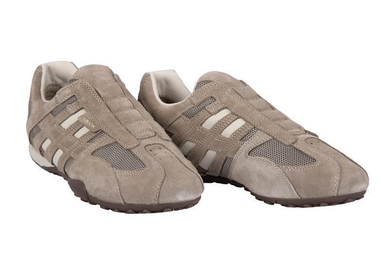 Geox Snake N Schuhe beige offwhite grau Herren Slipper