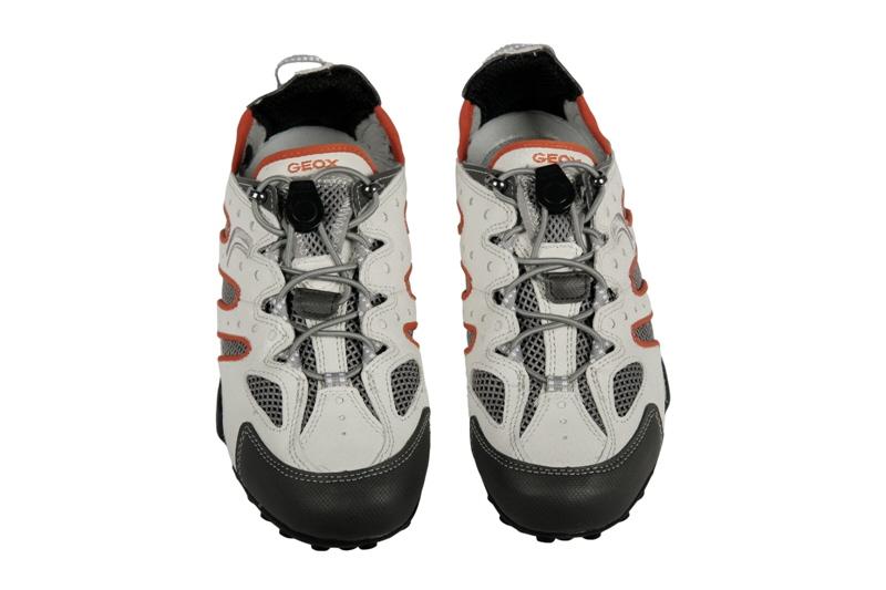 Geox Respira Snake B Schuhe weiß orange Herren Sneakers