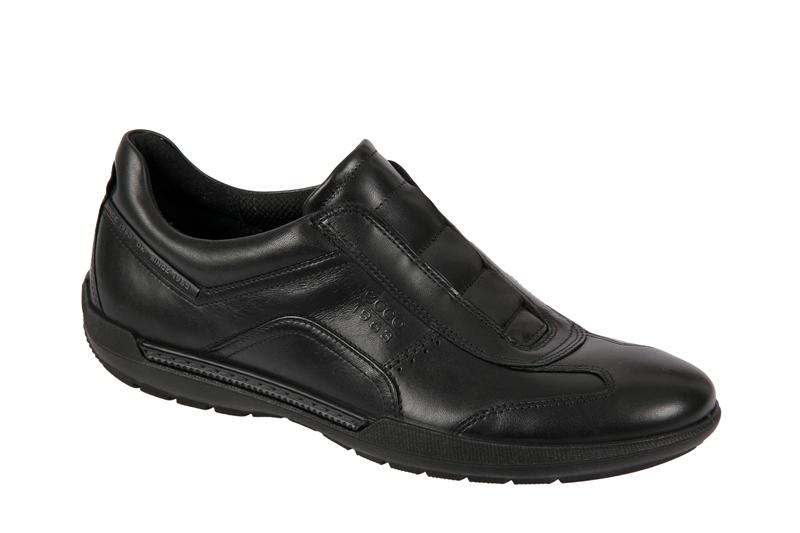 Details zu Ecco Welt Sneaker Schuhe schwarz Herren Slipper Art: 530524 ...