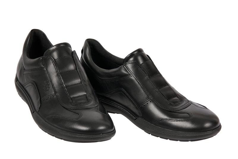 ecco welt sneaker schuhe schwarz herren slipper art 530524 01001 neu ebay. Black Bedroom Furniture Sets. Home Design Ideas