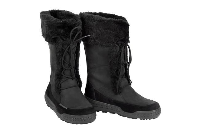 Details zu Ecco Siberia Hi Damen Stiefel schwarz Fellfutter 852503 ...