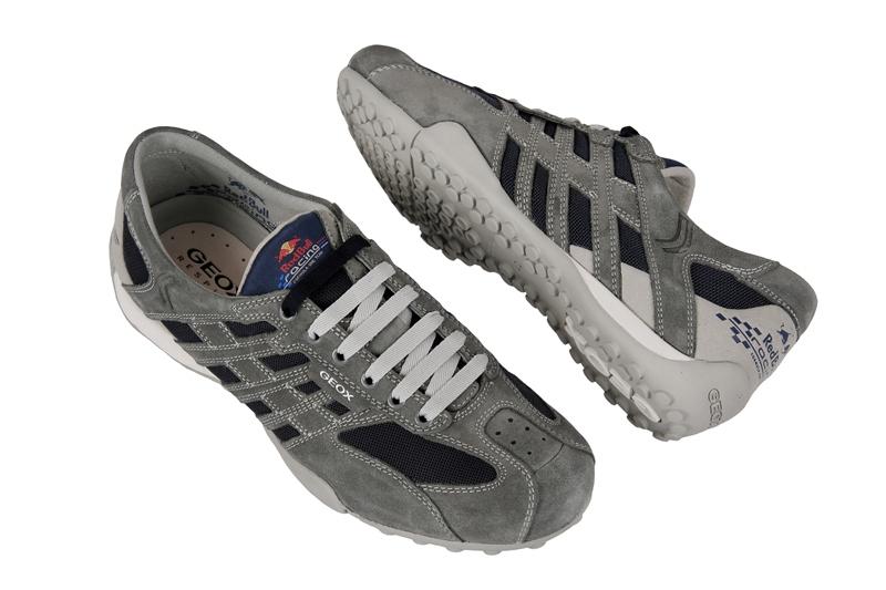 Geox Snake Red Bull Schuhe grau blau U11B9A01422C0244