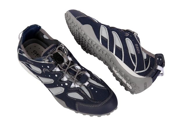 Geox Respira Snake V Schuhe navy blau Damen Sneaker D1112V
