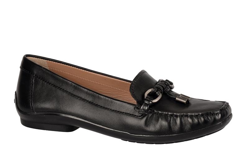 geox respira roma schuhe schwarz damen slippers mokassin. Black Bedroom Furniture Sets. Home Design Ideas
