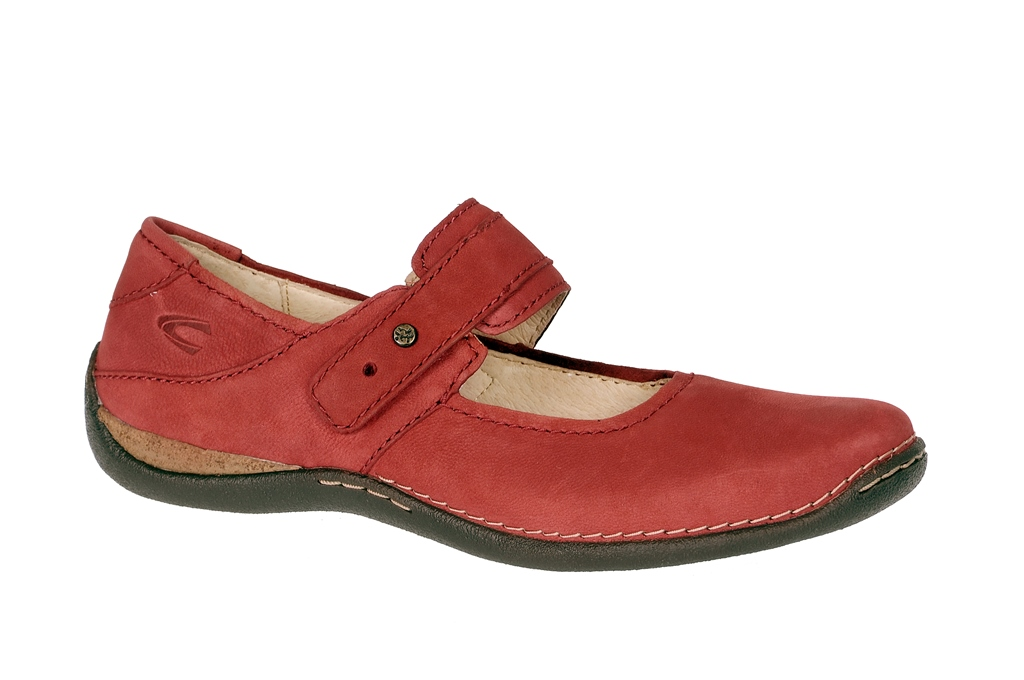 fd13aa8e1068 camel active Marrakesh Slipper in rot Mary Jane - Schuhhaus Strauch Shop