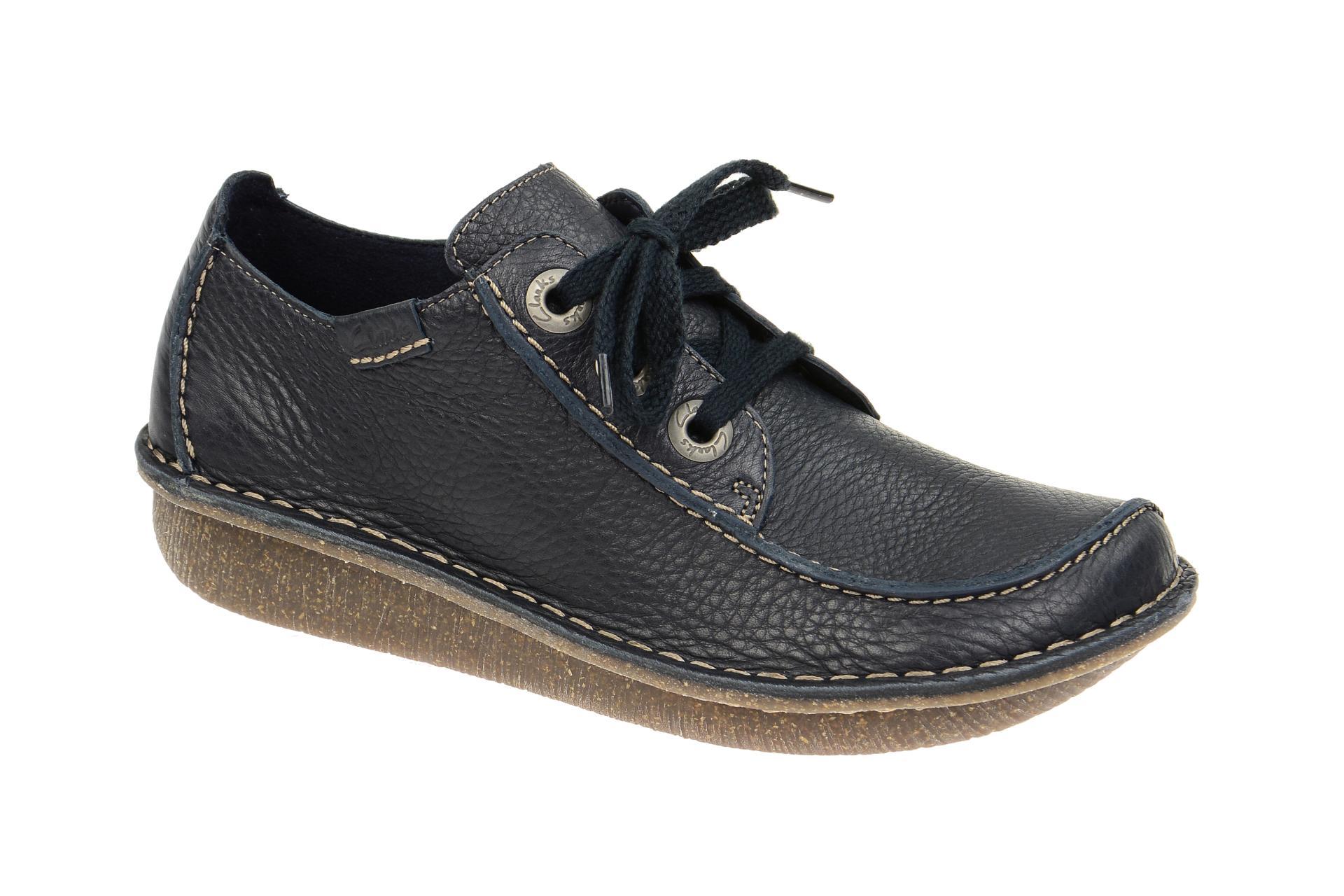 7f9369b317 Clarks Schuhe FUNNY DREAM blau Damenschuhe bequeme Schnür-Halbschuhe  20301123 4