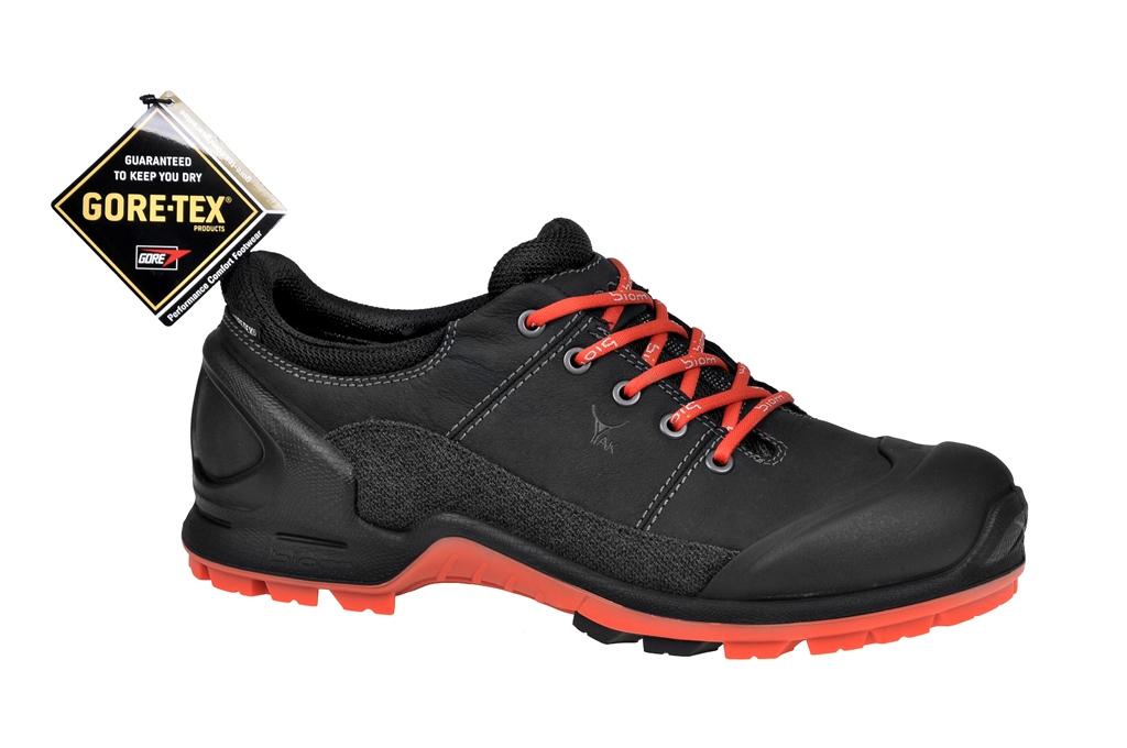 a612c484d68ef8 Ecco Biom Terrain Schuhe in schwarz orange Yakleder Gore-Tex - Schuhhaus  Strauch Shop