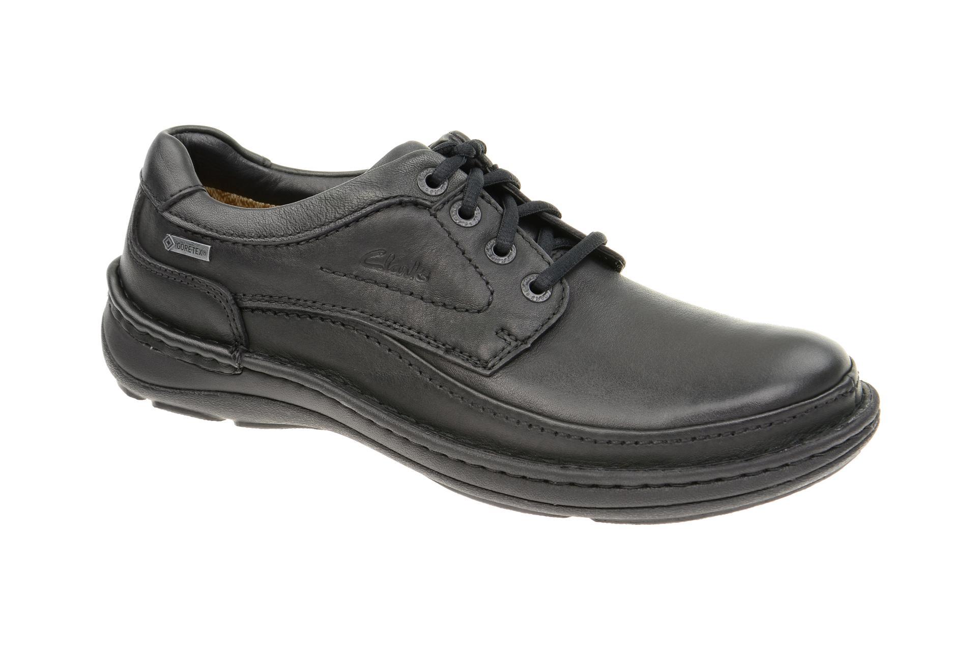 Clarks Nature Three GTX Schuhe schwarz :: Schwarz - 38 - Männlich - Erwachsene