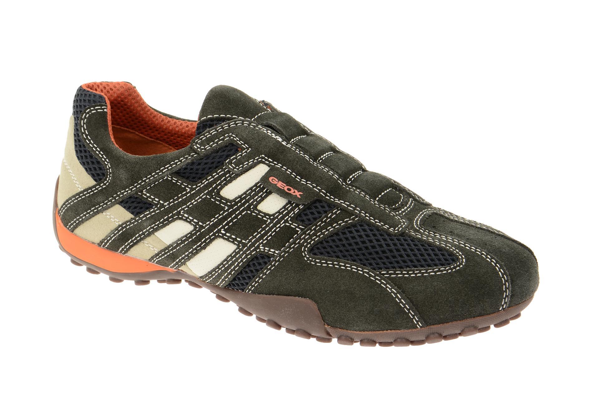 04d15a36208b26 Geox Schuhe SNAKE grau Herrenschuhe sportliche Slipper U4207L 02214 C1300  NEU