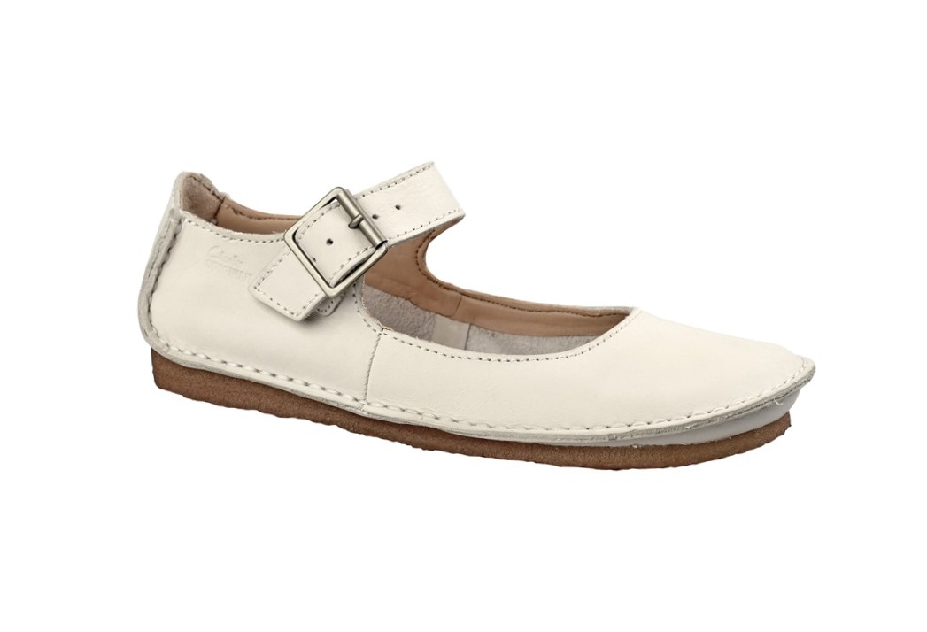 zu Clarks Faraway Fell Ballerinas cotton beige Mary Jane Damenschuhe ...