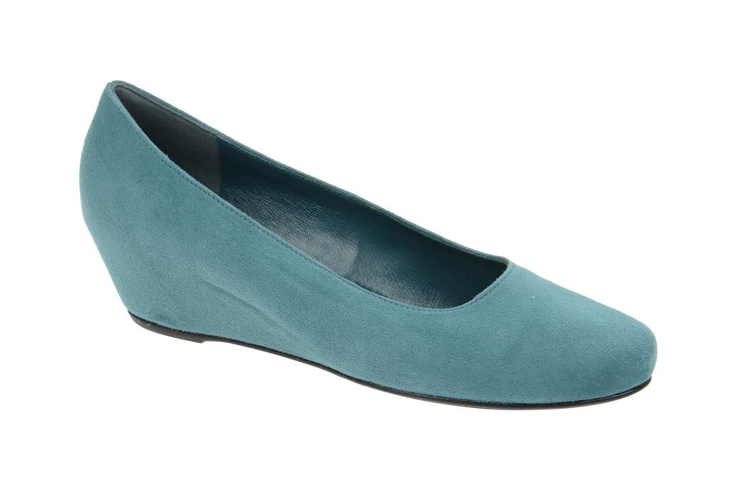 Schuhe petrol blau