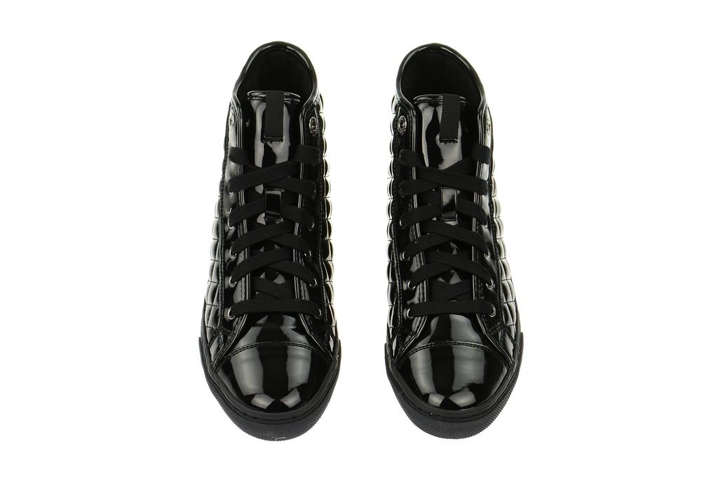 geox boots damen stiefeletten new club schwarz lack. Black Bedroom Furniture Sets. Home Design Ideas