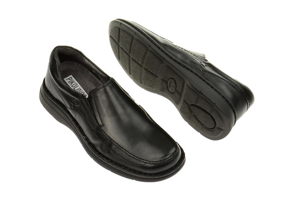 Pikolinos Schuhe Valverde schwarz Herrenschuhe bequeme Slipper 081 6144L black