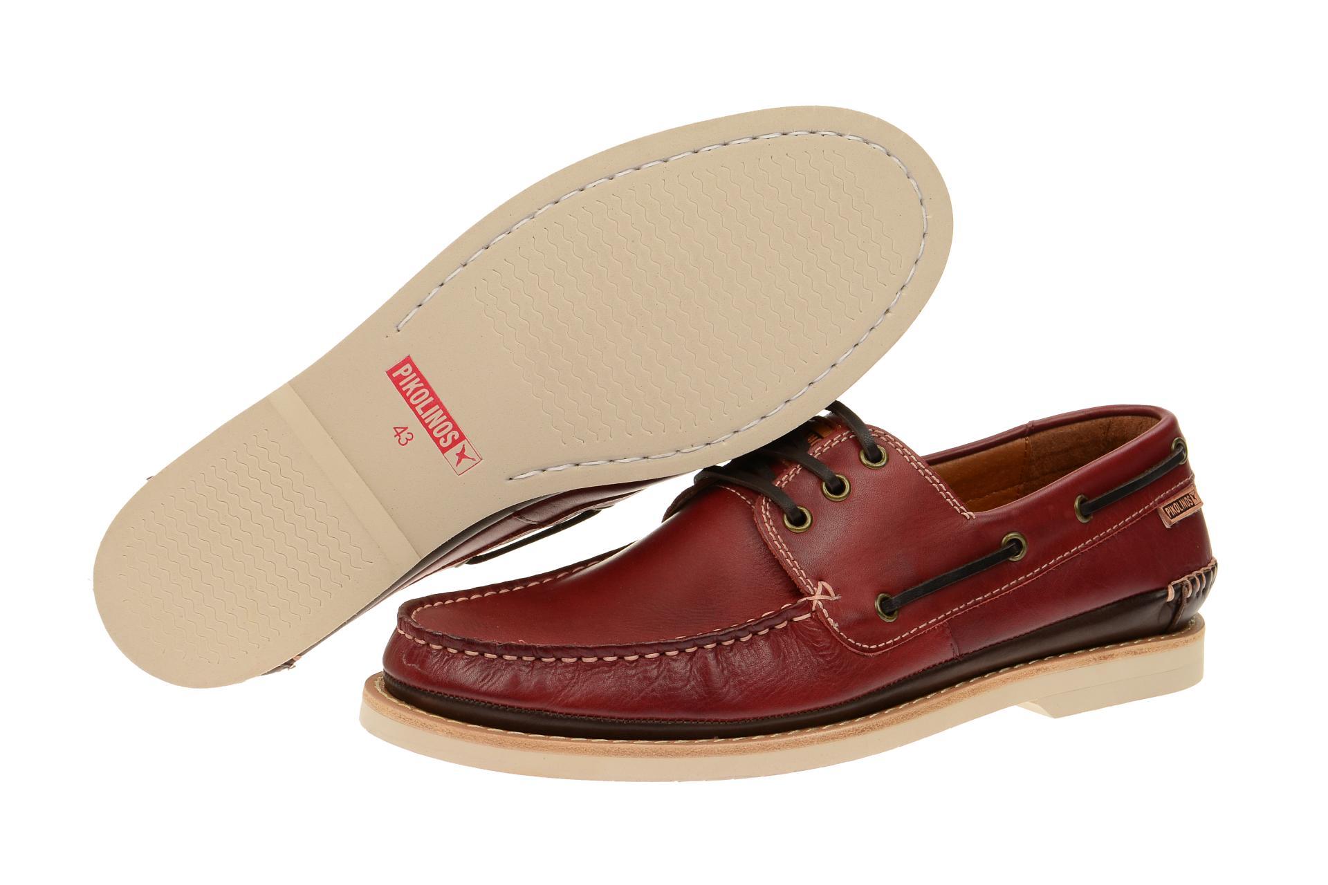 Pikolinos Schuhe TORREMOLINOS rot Herrenschuhe 08Q 6570 arcilla