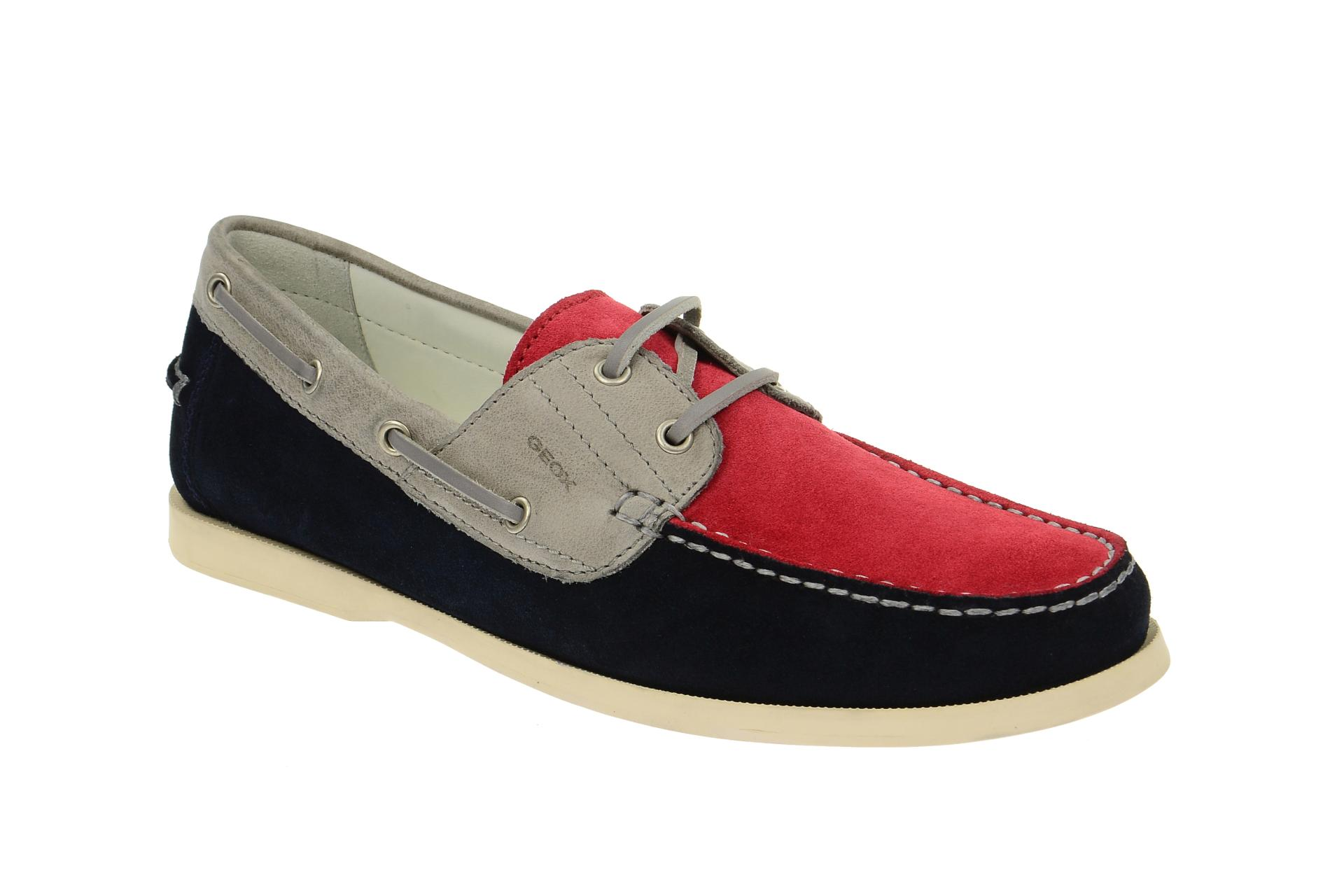 Geox Juarez Schuhe rot blau U52A8A :: Rot - 40 - Männlich - Erwachsene