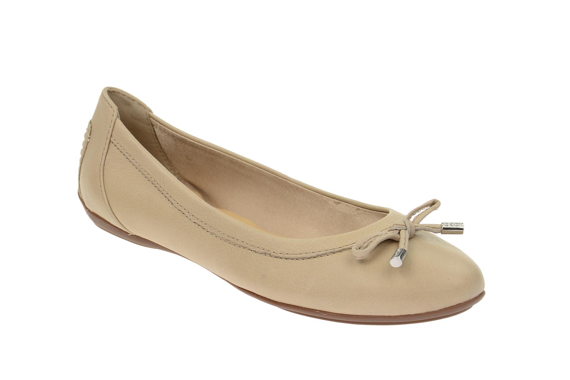 Geox CHARLENE Ballerinas - Damen Halb Zapatos  - - - Slipper beige NEU 4e20a2