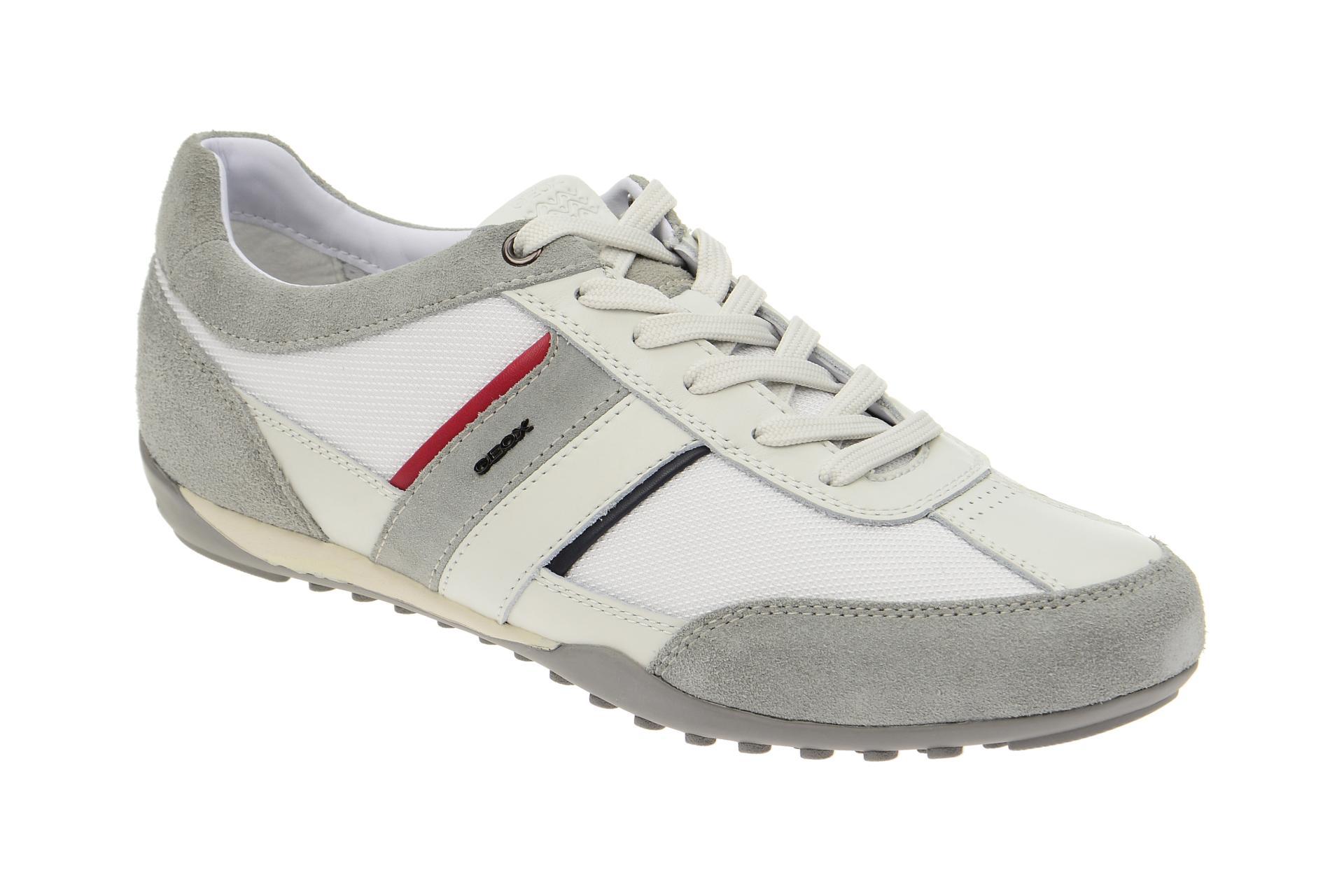 Zu C0130 Sportliche Details U52t5c Herrenschuhe Halbschuhe 02211 Geox Wells Weiß Schuhe yIYvbf6g7