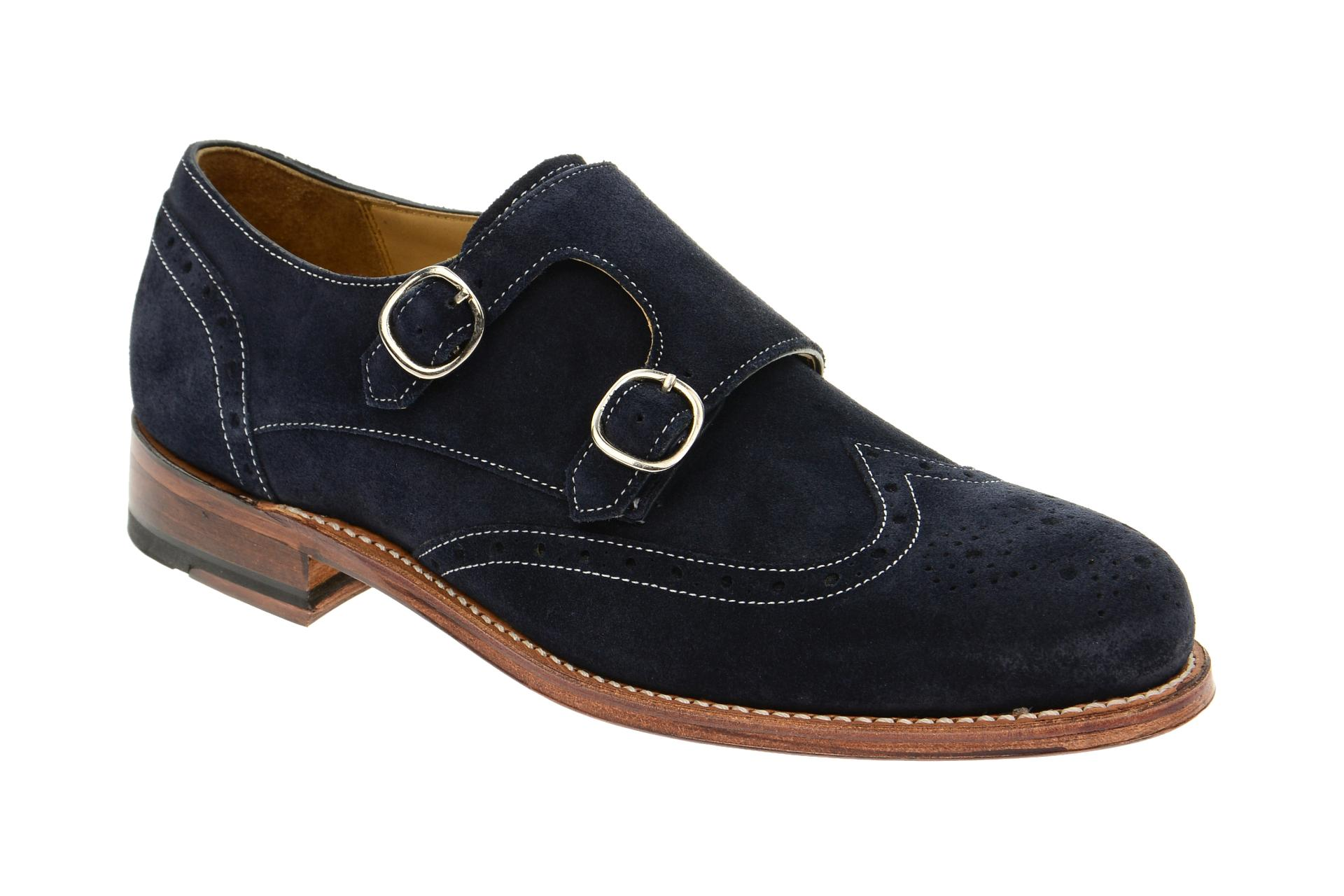 Gordon & Bros. Gordon & Bros Schuhe Levet blau Velour Rahmengenäht 4925 :: Blau - 41 - Männlich - Erwachsene