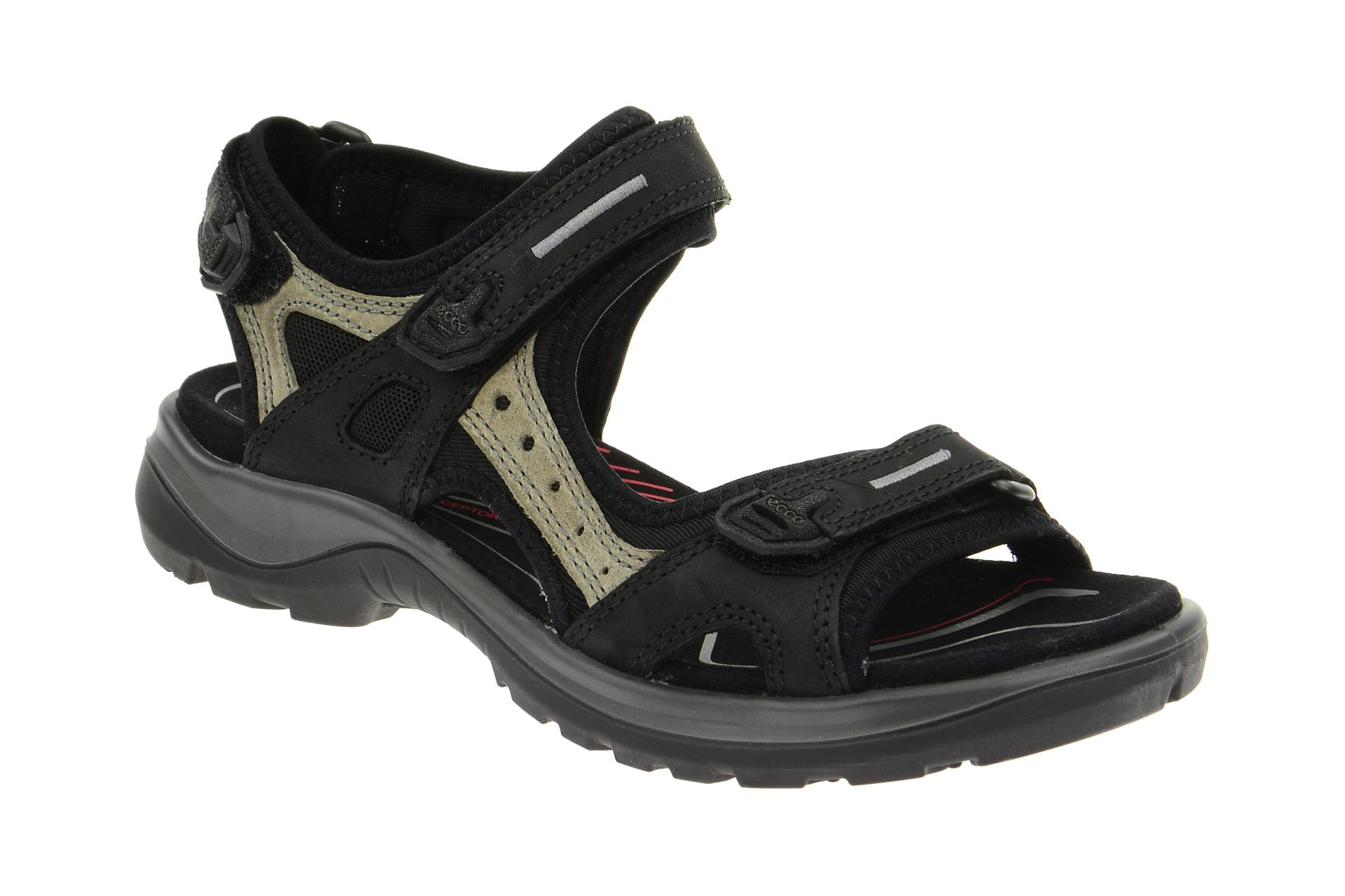 ecco trekking sandaletten offroad schwarz grau damen. Black Bedroom Furniture Sets. Home Design Ideas