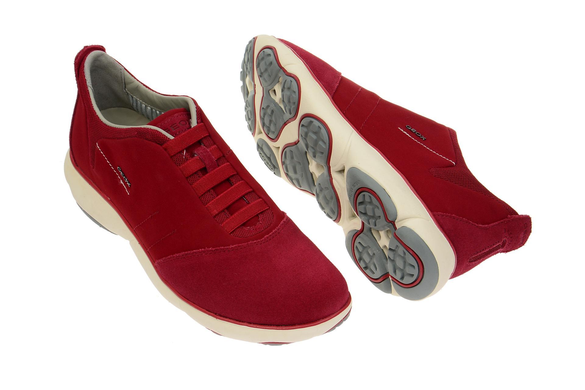 Geox Schuhe NEBULA rot Herrenschuhe bequeme Slipper U52D7B 0ZB22 C7004 NEU