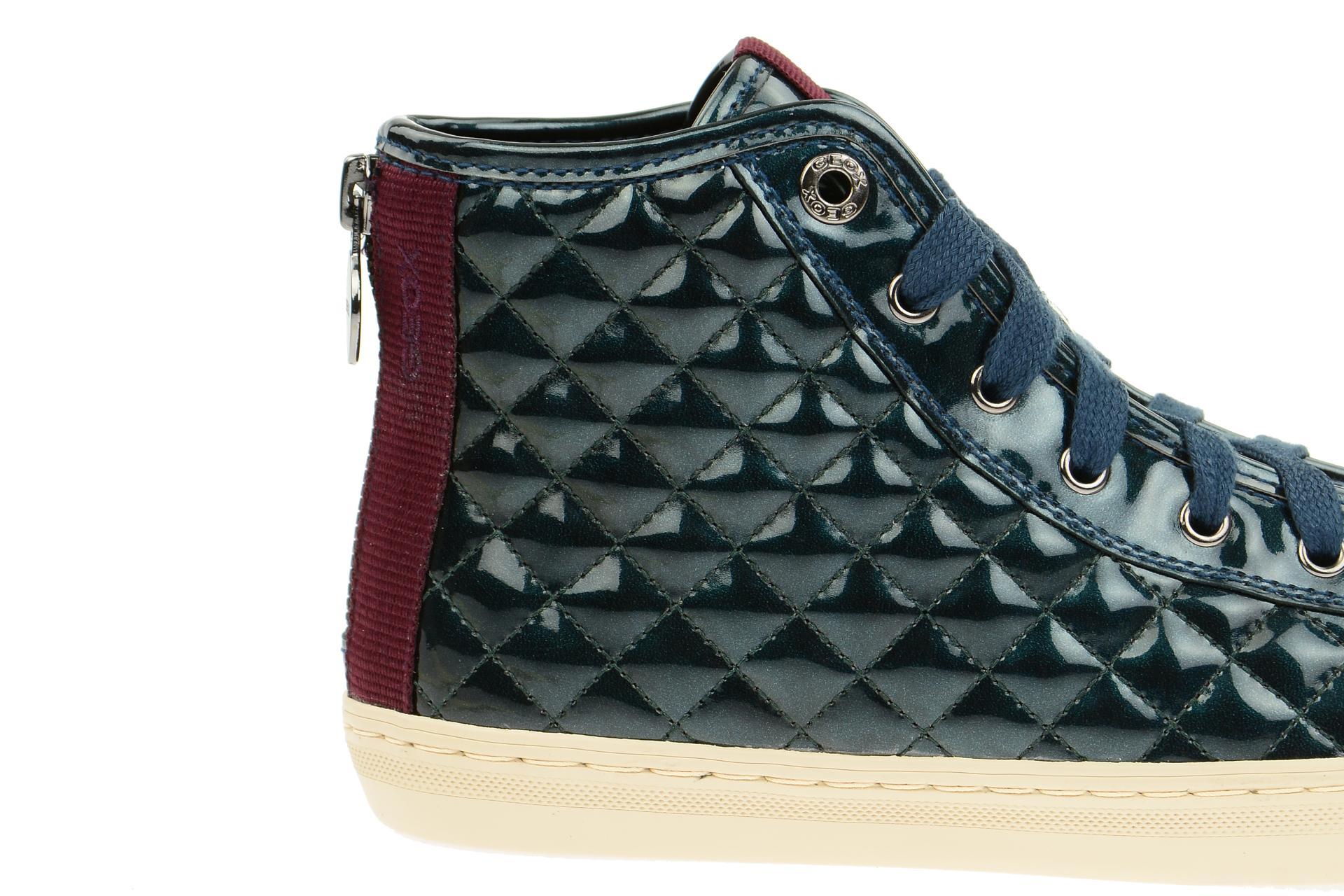 geox stiefelette new club damen sneakers blau metallic lack neu ebay. Black Bedroom Furniture Sets. Home Design Ideas