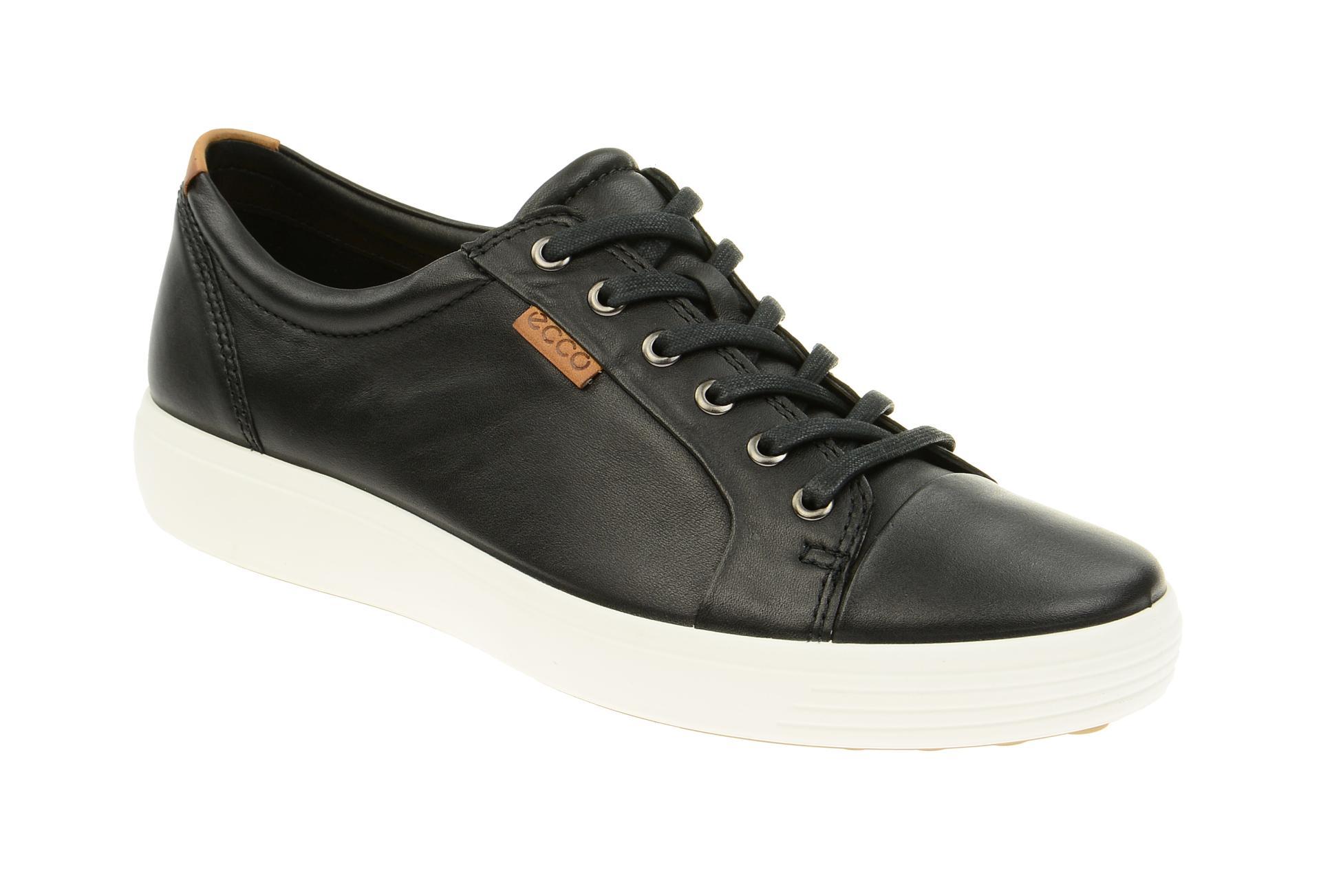 finest selection dc064 bb538 Ecco Soft 7 Schuhe schwarz weiß Herren