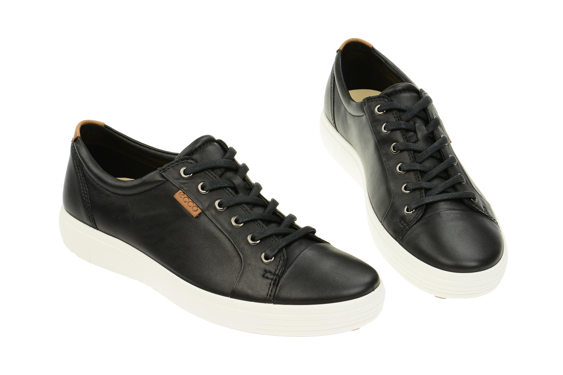712fb4d6a712b9 Ecco Schuhe SOFT 7 MEN`S schwarz Herrenschuhe sportliche Halbschuhe  43000401001