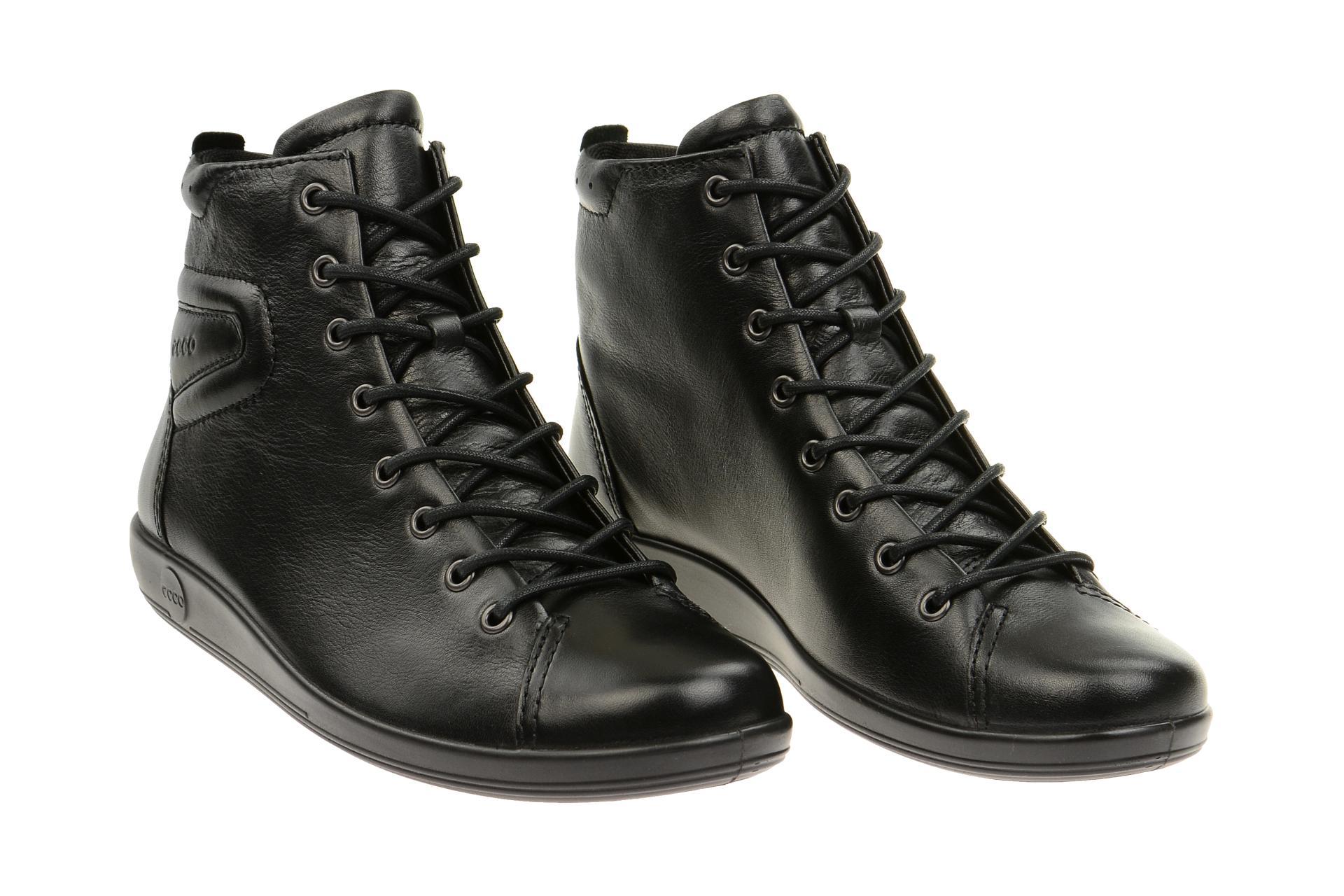 a24918942a445b Ecco Schuhe SOFT 2.0 schwarz Damen Stiefeletten bequeme Stiefelette  20652356723