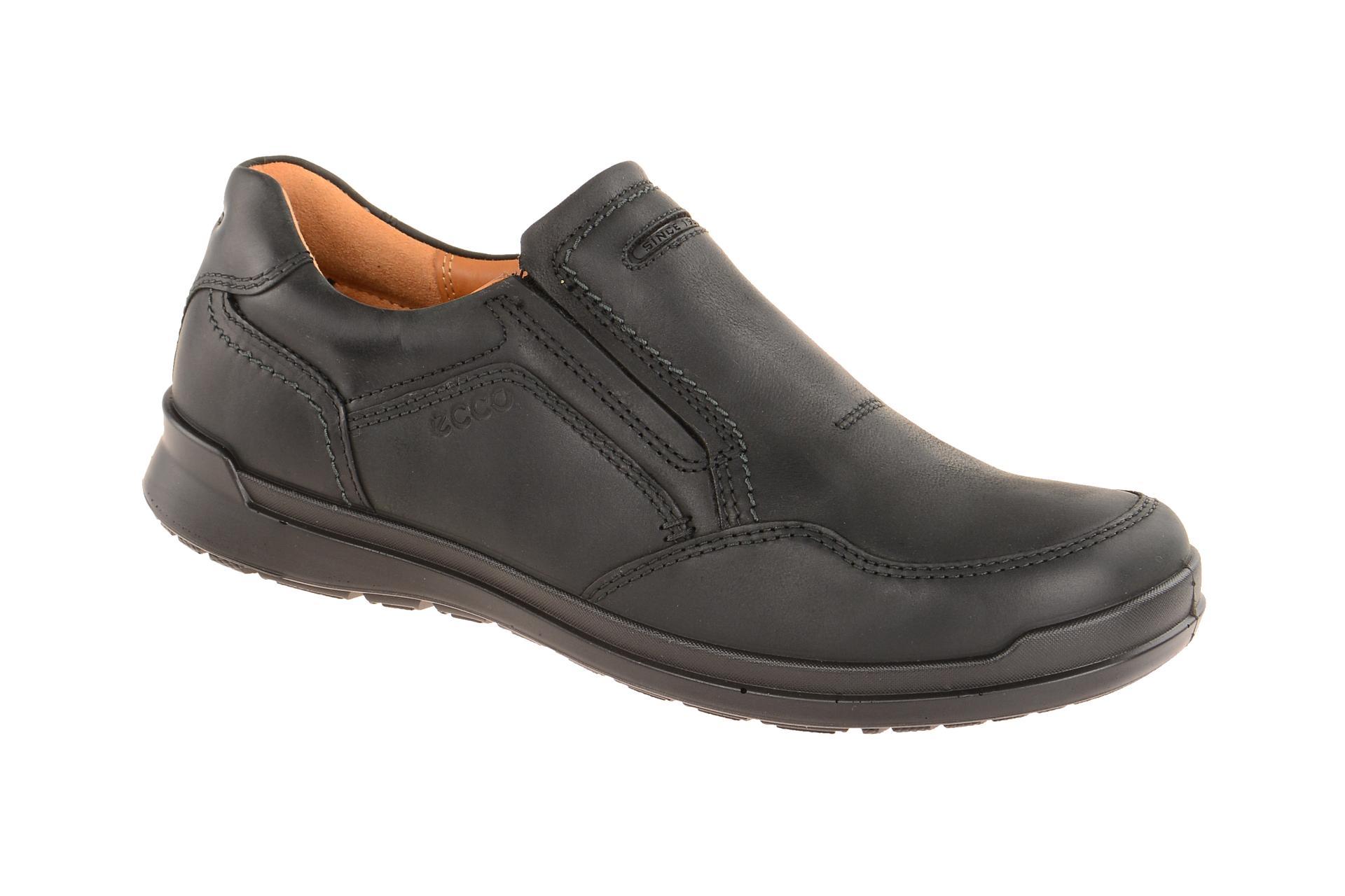Details zu Ecco Schuhe HOWELL schwarz Herrenschuhe bequeme Slipper 52452402001 NEU