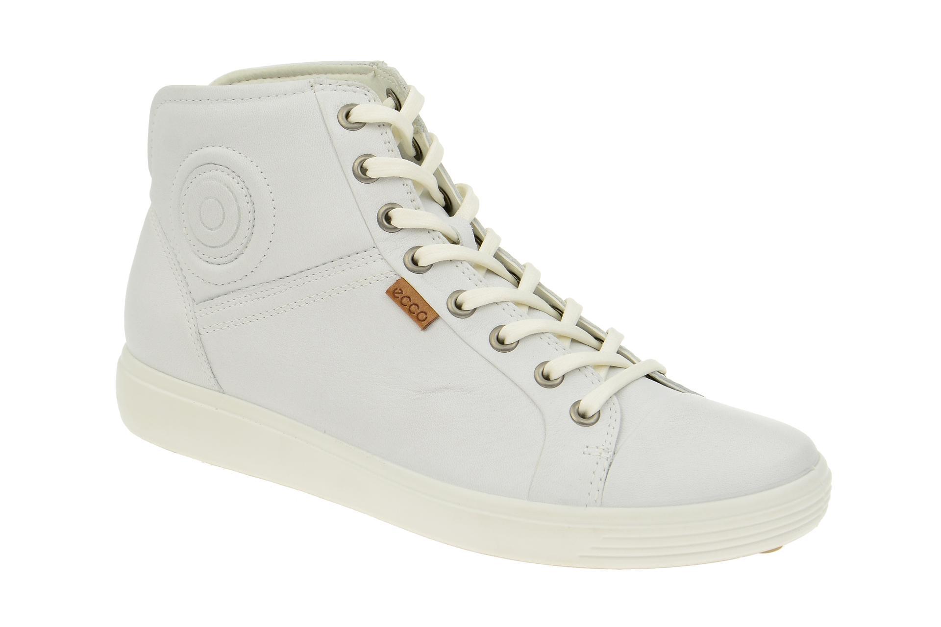 39d94e8966ff36 Ecco Soft 7 Stiefelette weiß Damen Boots - Schuhhaus Strauch Shop