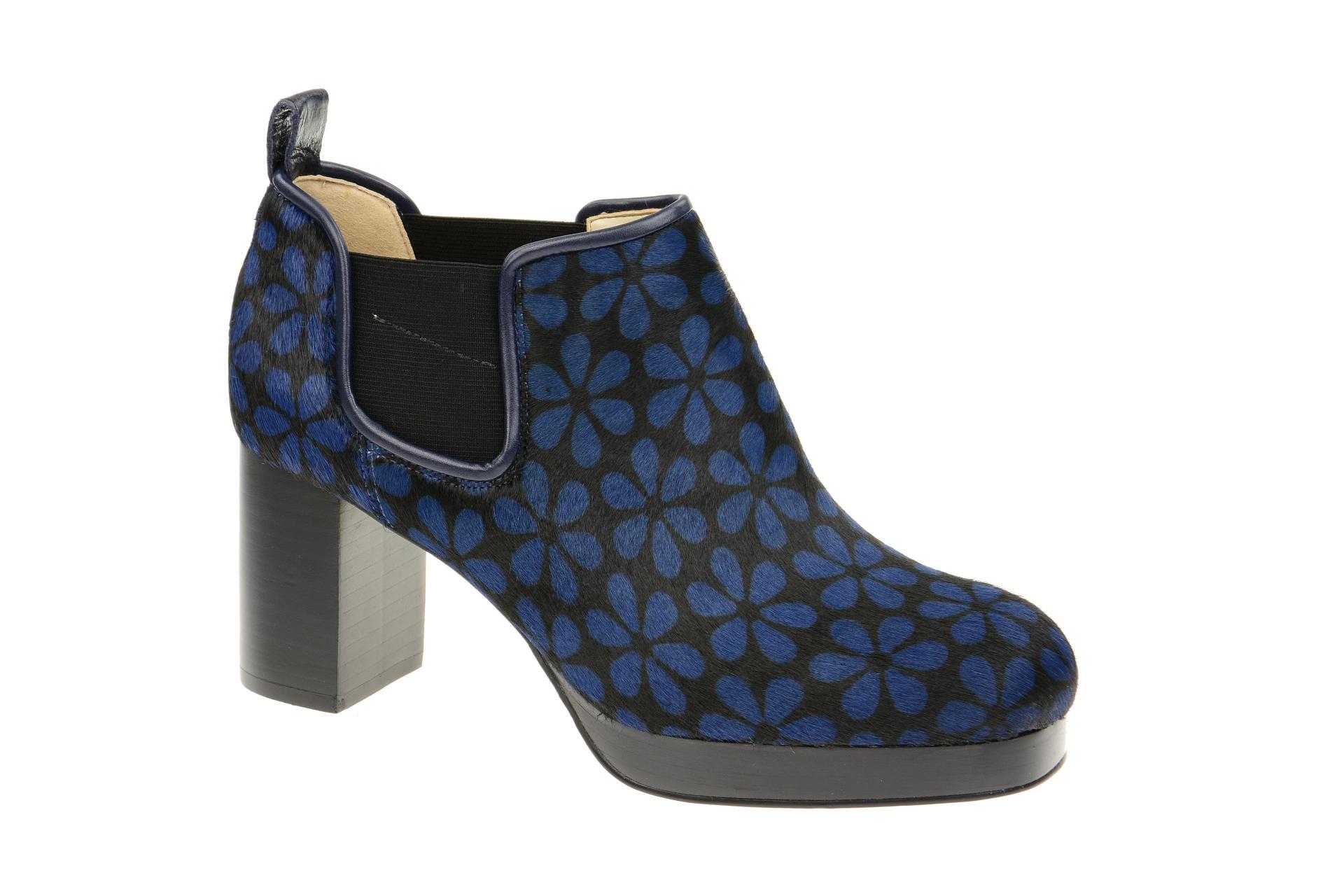 newest a240d 8df55 Details zu Clarks Schuhe ORLA AUDREY blau Damen Stiefeletten elegante  Stiefelette 26113425