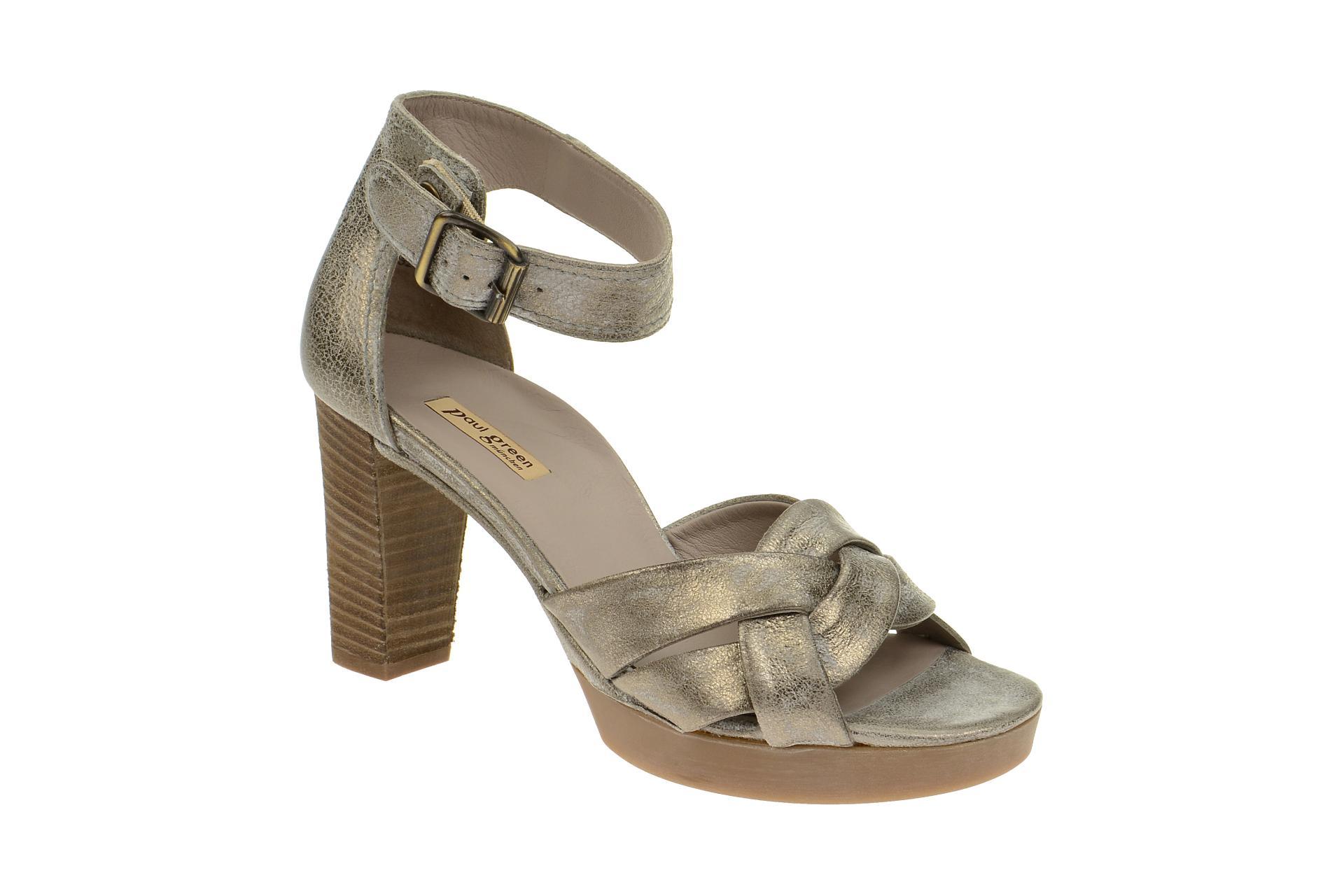 online store 9da24 c9ceb Paul Green Sandale 6958 grau metallic Gr 38,5