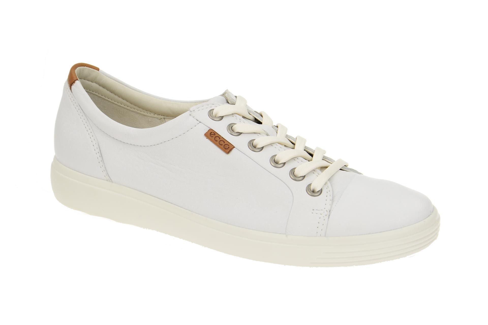 c5d36eec5da5a2 Ecco Soft 7 Schuhe weiß Damen Sneakers - Schuhhaus Strauch Shop