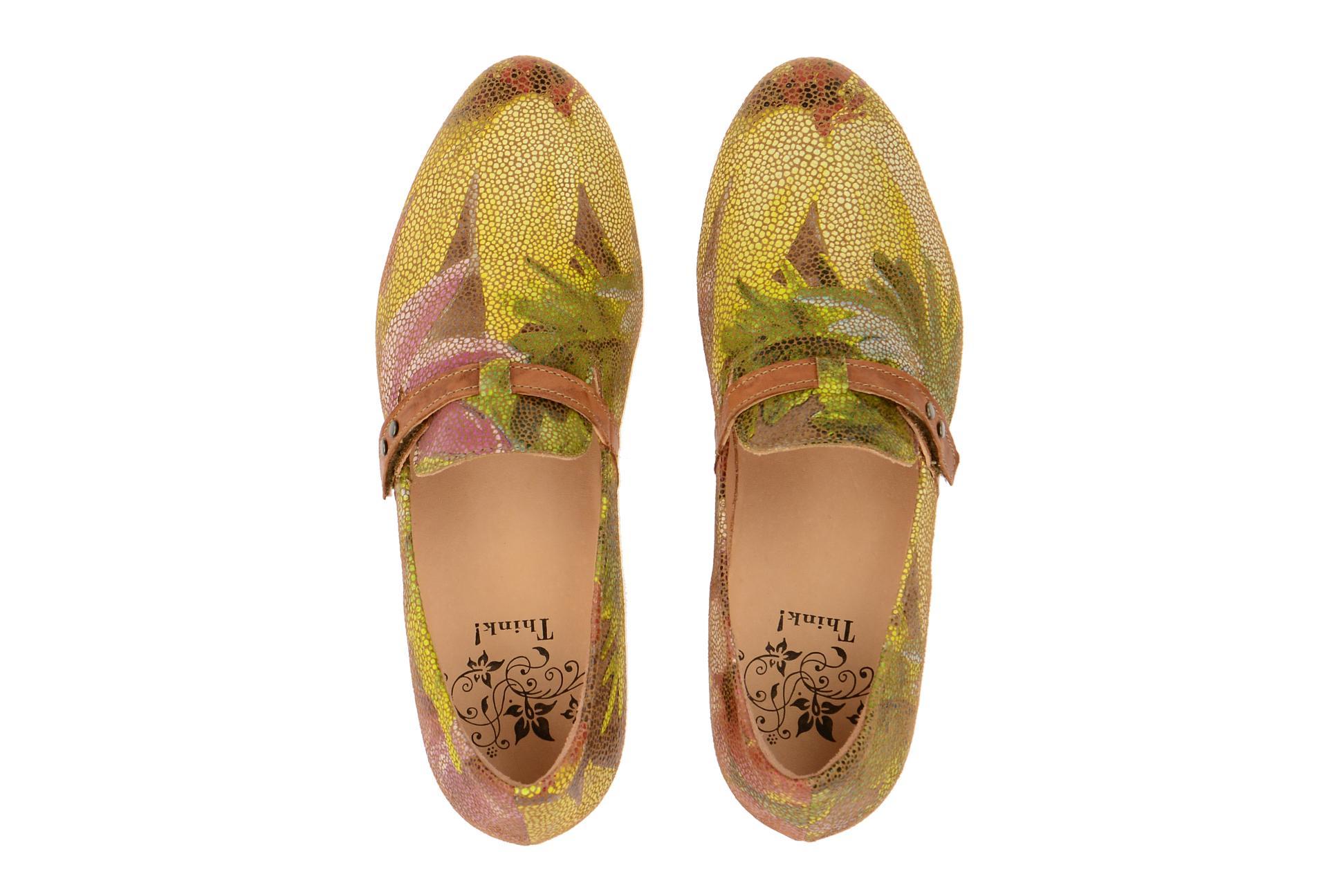think guad schuhe damen slipper gelb 6 86285 54 schuhhaus strauch shop. Black Bedroom Furniture Sets. Home Design Ideas