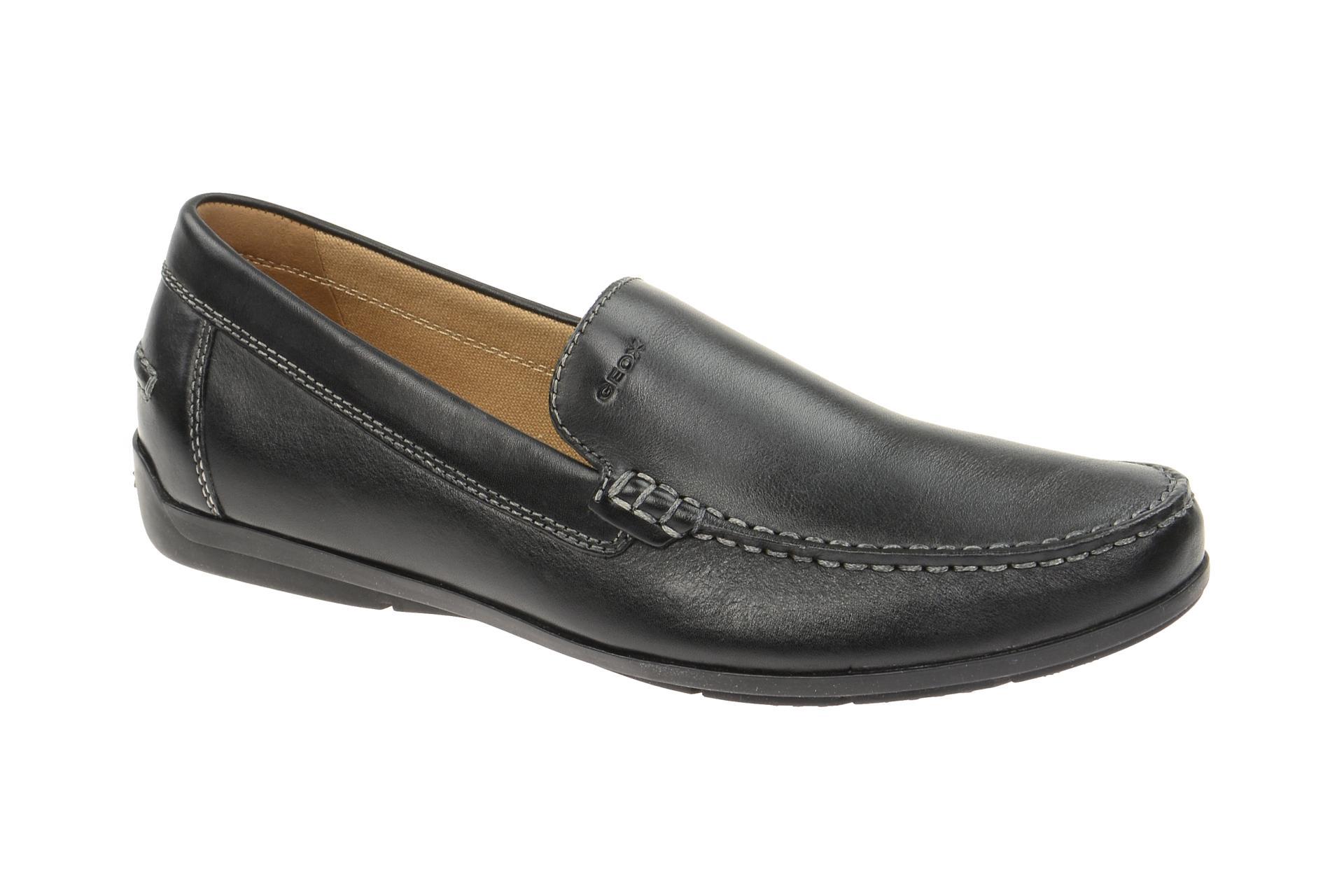 buy various design factory outlets Details zu Geox Schuhe SIMON schwarz Herrenschuhe elegante Slipper U32Q3A  00043 C9999 NEU