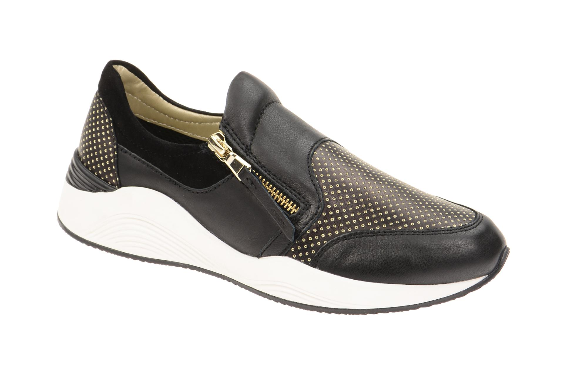 geox schuhe omaya schwarz damenschuhe bequeme slipper. Black Bedroom Furniture Sets. Home Design Ideas