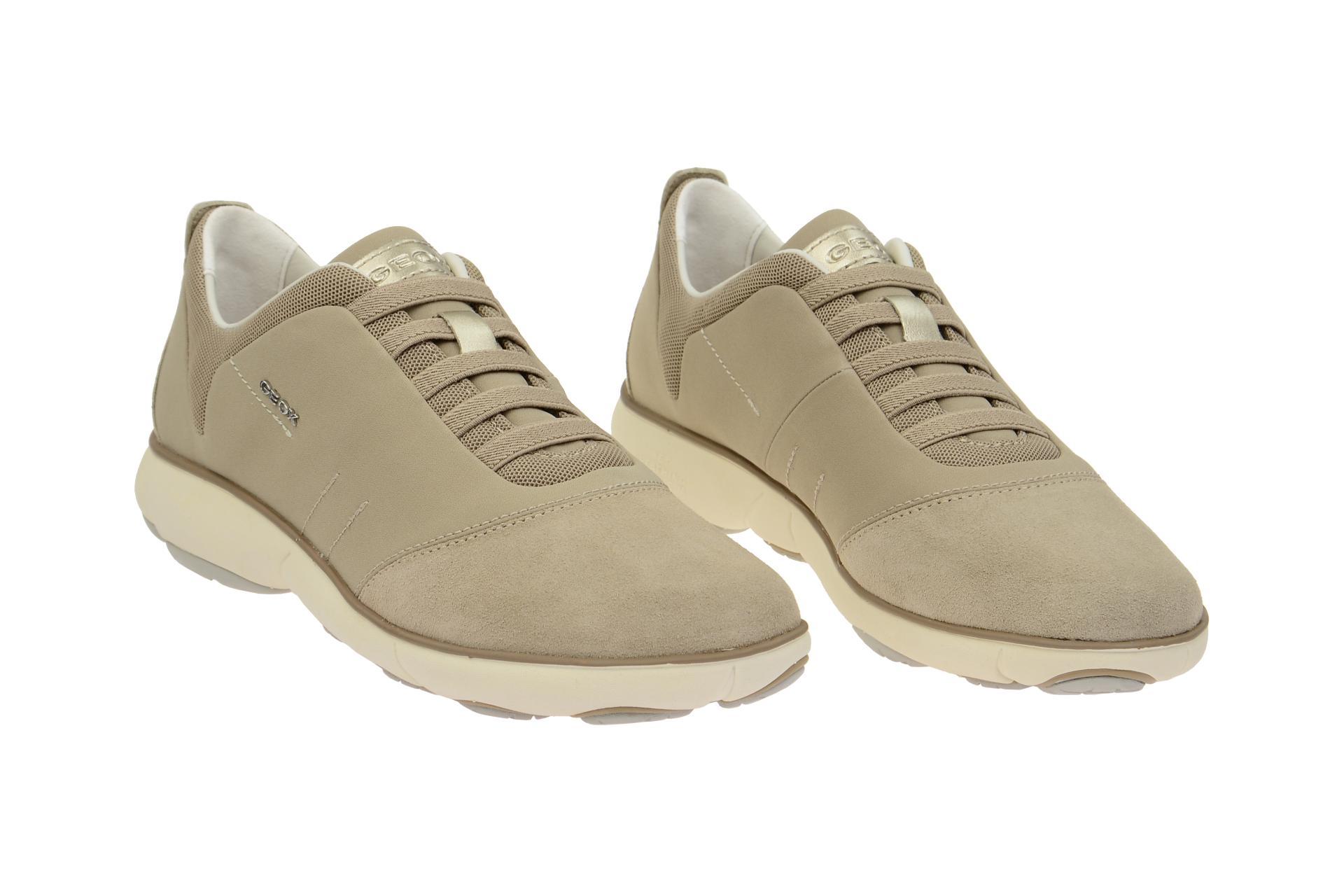 newest 40a7e 357ef Details zu Geox Schuhe NEBULA beige Damenschuhe bequeme Slipper D621EC  01122 C6738 NEU