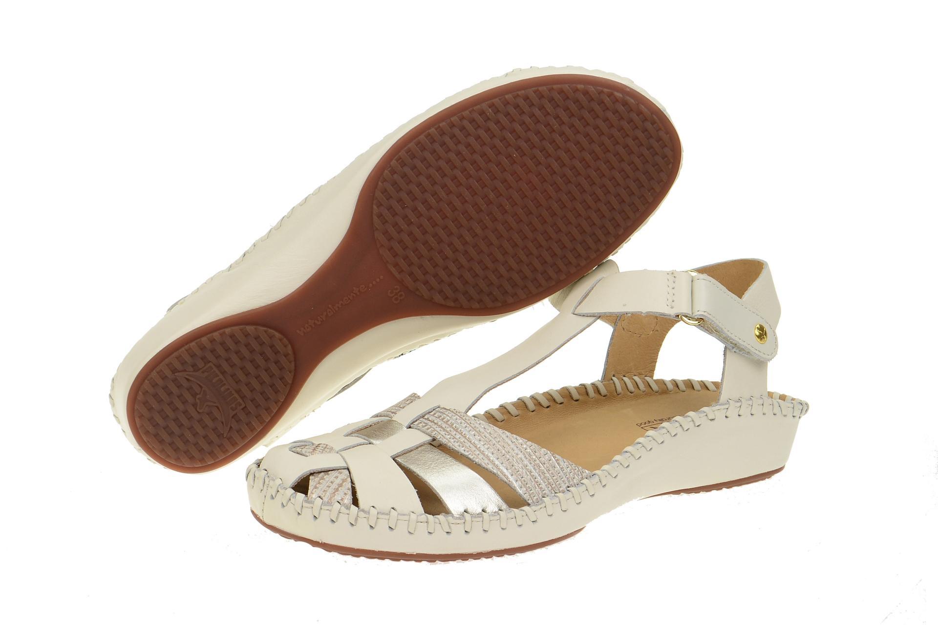 pikolinos schuhe vallarta wei damen sandale sandaletten 655 1540c1 nata neu ebay. Black Bedroom Furniture Sets. Home Design Ideas
