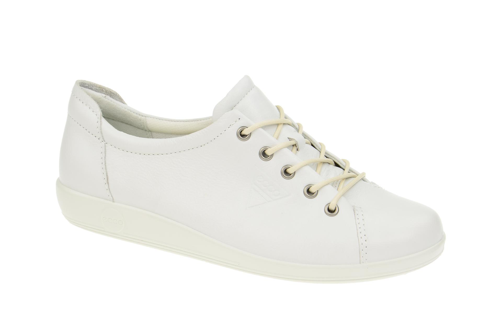 8be611cba6e104 Ecco Soft 2 Schuhe weiß Damen Schnürer - Schuhhaus Strauch Shop