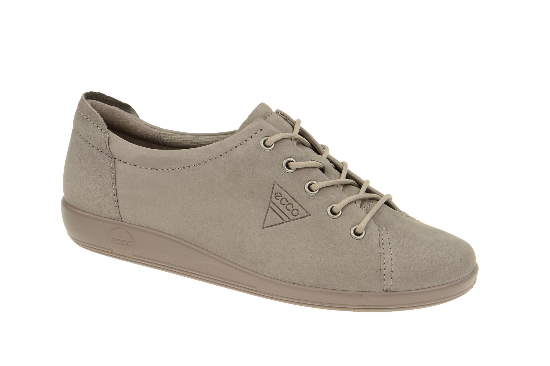 4152281ba3ea1e Ecco Soft 2 Schuhe grau Nubuck - Schuhhaus Strauch Shop