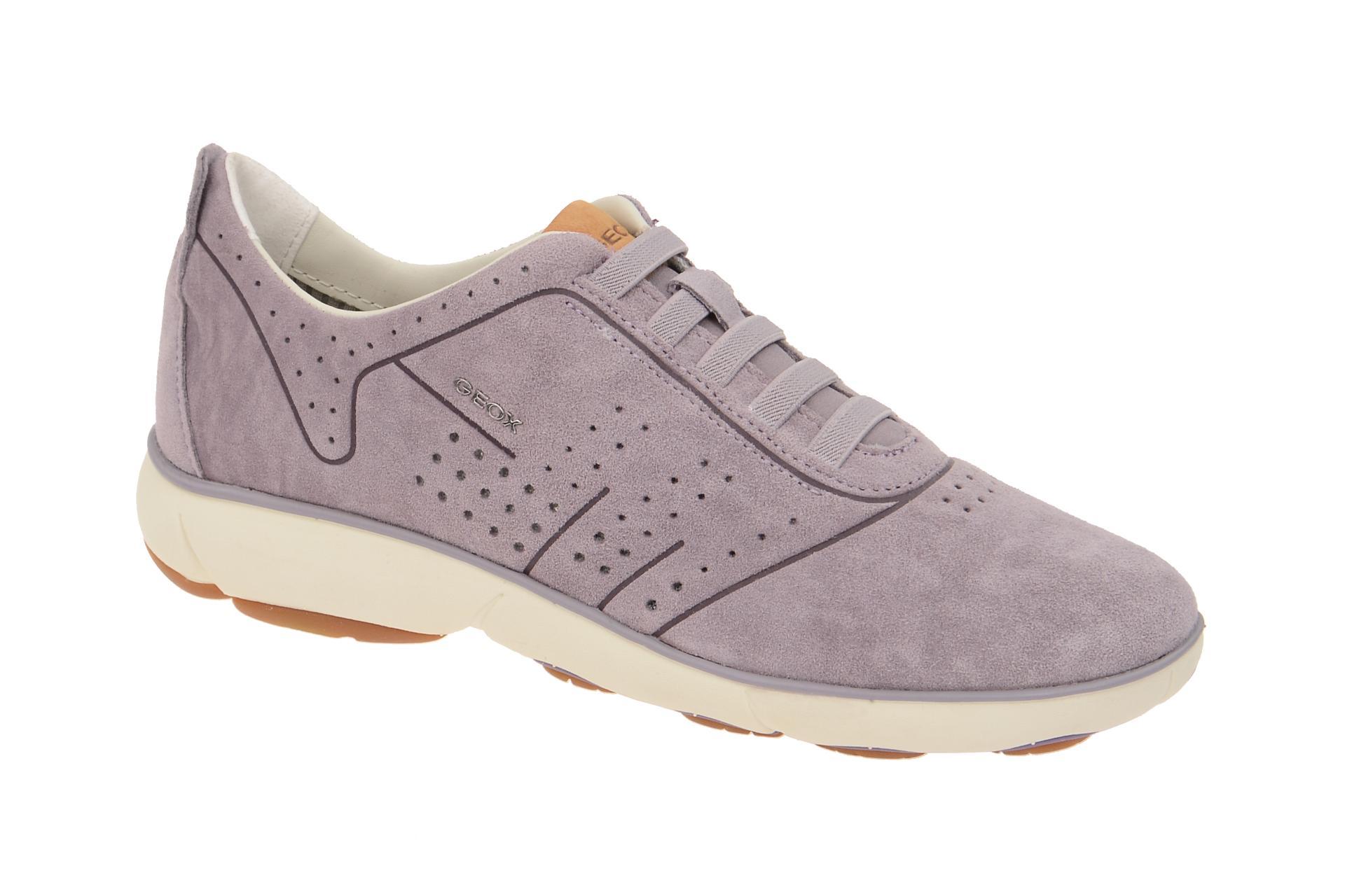 Geox Nebula A Sneakers in grau lila Damenschuhe mbIHD