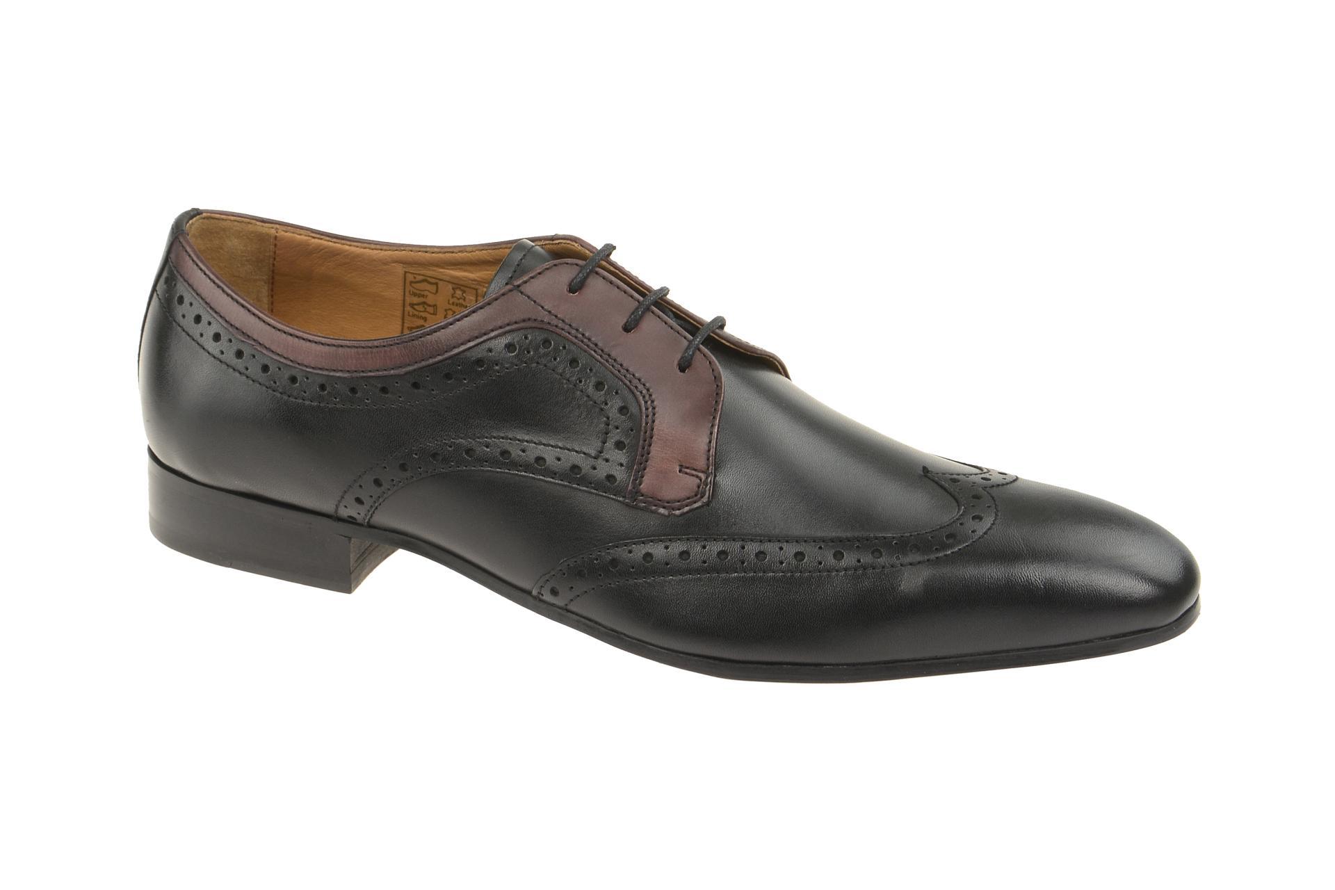Gordon & Bros. Gordon & Bros Schuhe Lorenzo schwarz bordo 623048 :: Schwarz - 40 - Männlich - Erwachsene