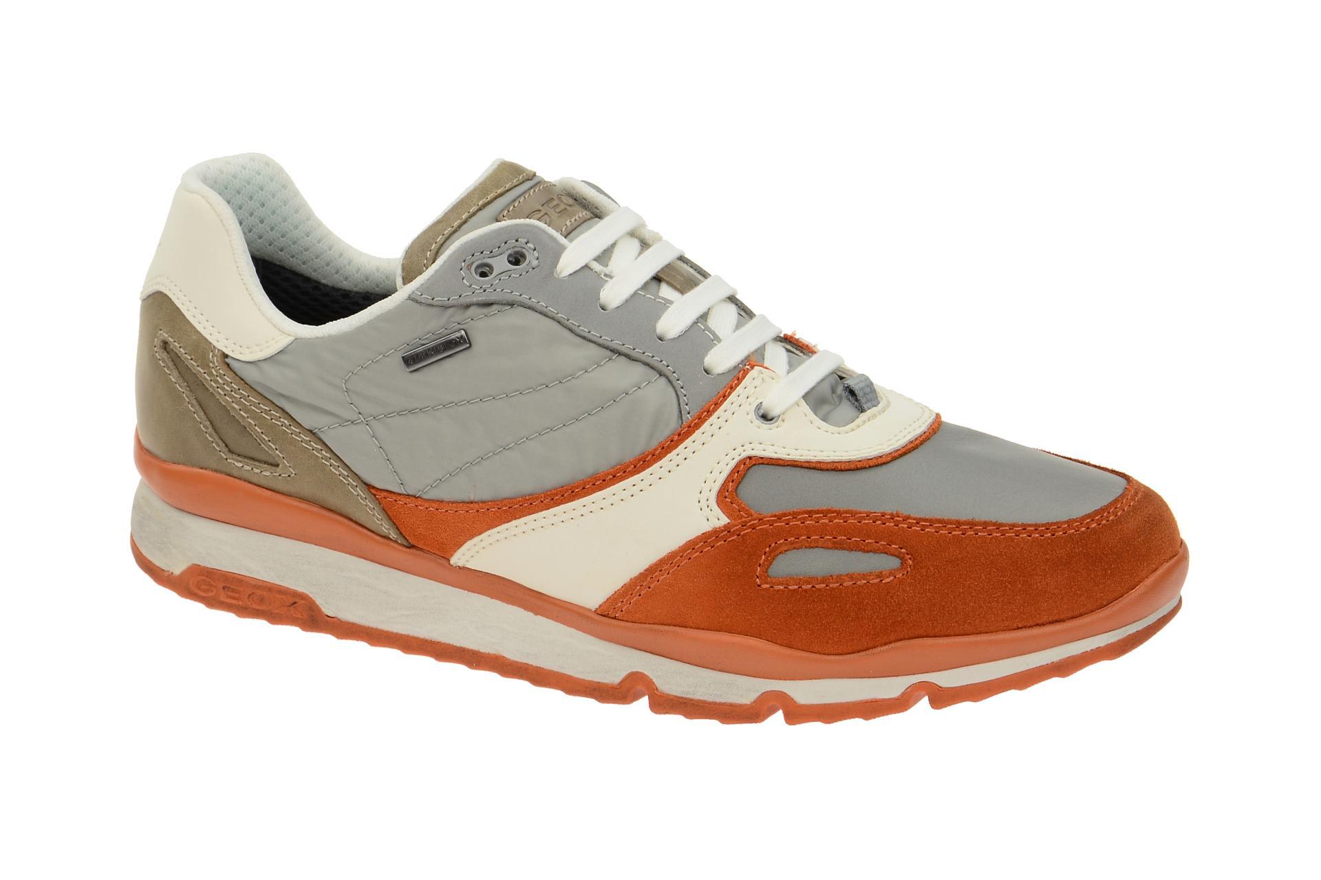 Geox Sandro Schuhe orange grau Wasserdicht U44S7A